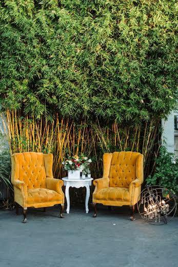 www.partypleasers.com, orange velvet tufted chair