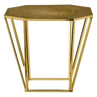 partypleasersblog@wordpress.com GOLD PENTAGONAL SIDE TABLE