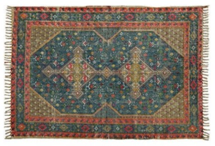 partypleasersblog@wordpress.com, red and blue dhurrie rug